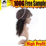 Aperçu gratuit bouclé de transport gratuit de pleines perruques indiennes de lacet