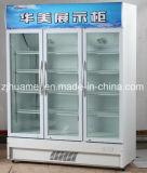 vetrina di vetro del dispositivo di raffreddamento della bevanda dei portelli 980L tre