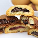 Os cookies de isolados de Chocolate automática fazendo a máquina