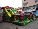 Parco di divertimenti gonfiabile della giungla dei bambini esterni di tema