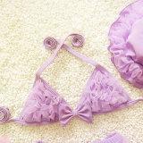 Badebekleidung 2018 Baby-Bikini-Baby-Badeanzug-Mädchen-der netten Three-Piece Klage-kleinen mittelgroßen Kinder