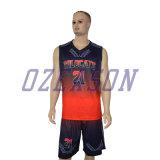放しなさいデザイン人/女性の昇華によって印刷される可逆バスケットボールのユニフォーム(BK006)を