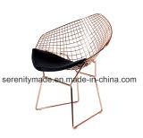 屋外金属線の椅子の中国の卸売の製造のダイヤモンドの形