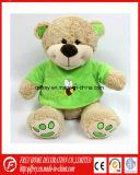 Osito de peluche suave felpa en color verde camiseta