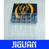 Botella de vidrio transparente de alta calidad envases etiquetas vial de 10ml