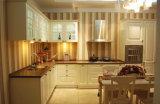 米国式の木の白いペンキの食器棚の合板の食器棚