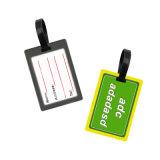 Commerce de gros en PVC souple en plastique personnalisé Luggage Tag, Avion Luggage Tag comme cadeaux promotionnels
