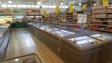 8 FT grande supermercado Freezer freezer da porta de vidro de correr para o armazenamento de frango