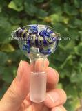 El tazón de fuente de cristal del agua que fumaba/el tazón de fuente de cristal de la suposición/el animal adornaron el tazón de fuente de cristal