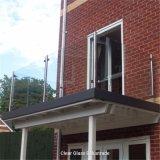 Berijpte het Traliewerk van het Glas van het Balkon van het roestvrij staal of de Duidelijke Balustrades van de Comités van het Glas met Vierkante of Ronde Post