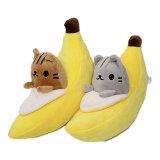 귀여운 연약한 견면 벨벳 바나나 여자 아기 소년 아이를 위한 장난감에 의하여 채워지는 과일 선물 인형 - 생일 견면 벨벳 선물 장난감