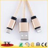 Qualitäts-Troddeln Keychain USB-Daten-Kabel mit Mikro-USB-Aufladeeinheit