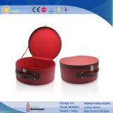 Cuir synthétique ménage rouge de grande taille grande boîte de rangement (6489)