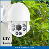4MP PTZ Control IR IP Camera girando 360 graus