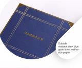 Delicada piel sintética de color azul oscuro Joyero de papel (tamaño pequeño)