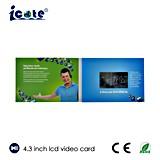 4.3 Librete video video video del saludo Card/LCD Brochure/LCD del LCD para el anuncio, regalo, educación