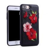 Telefone celular bordados caso para iPhone 7