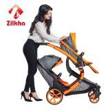フレームおよび規則的なシートが付いている双生児の赤ん坊車車のアルミニウム管の強い反変形
