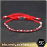 Piccoli braccialetti all'ingrosso del Macrame dei branelli, braccialetto Braided su ordinazione Msbb008