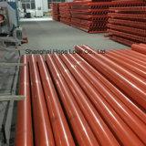 Orange du tuyau rigide électrique souterrain de raccords de tube en PVC