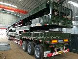 Semi Aanhangwagen 3 Vervoer van de Container van de Ton van As 30-35 Lage Flatbed
