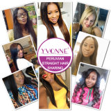 Yvonne 고전적인 작풍 페루 Virgin 똑바른 사람의 모발 색깔 #1b