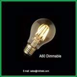 Lâmpada de incandescência LED 6W/A60/Dimerizável/Edison/Ce/RoHS//Luz de Iluminação