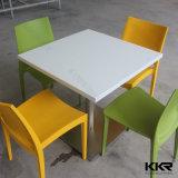 Mobilier de maison en pierre de résine 4 chaises Table de la Cour d'aliments