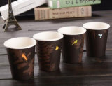 Taza de café de papel impresa negro