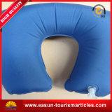 Раздувная Flocked подушка шеи PVC для перемещать