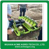 Alho do uso da exploração agrícola que planta a máquina de semear do alho da máquina