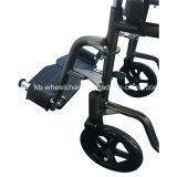 Qualité, poudre enduite, manuel en acier, fauteuil roulant handicapé