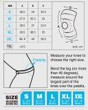 Paréntesis ajustable de la pista del soporte del protector de la rodilla de Rodilleras Soutien Joelheira de la rodillera del baloncesto de la rótula abierta el elástico del neopreno