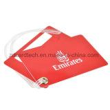 Tag plástico conhecido bonito da bagagem do PVC dos presentes da promoção
