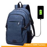 Sac à dos imperméable à l'eau d'ordinateur portatif de sac à dos de la qualité neuve USB de l'arrivée 2017 avec le câble usb
