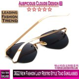 Neue Dame Restro Style Toad Sunglasses der Form-3822