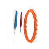 高品質のプラスチックウールDIYのまっすぐな編む織機セット