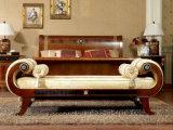 ヨーロッパ古典的な様式のブナの純木のベッド
