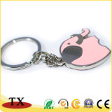 Charming and Colorful spray Paint Metal Zinc Alloy key chain