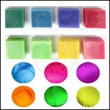 Pigmento natural de la perla de la mica del color multi de Ocrown para el jabón