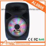 무선 Mic를 가진 액티브한 유형 PA 재충전용 옥외 휴대용 트롤리 스피커