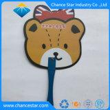 Kundenspezifischer pp.-Plastikhandventilator mit gedrucktem Firmenzeichen