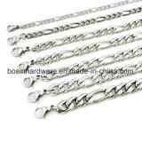 Мужские серебряные цепочки Фигаро из нержавеющей стали браслет