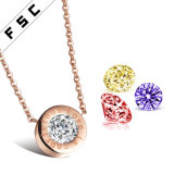 Fashion Design Jewelry rose gold Plated Interchangeable Multicolor Zircon counterpart Necklace
