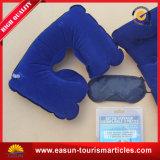 Almohadillas inflables del cuello de U de la línea aérea azul del estilo