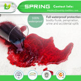Le luxe de Superking a ajusté la couverture antibactérienne balayée imperméable à l'eau respirable Chine de protecteur de matelas