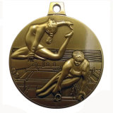 Дешевая золотая медаль тенниса влияния зеркала логоса таможни 3D