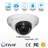 2,1 mm Lente Fisheye Câmara Dome Wi-Fi IR 1080P Câmara IP sem fio Slot para cartão SD