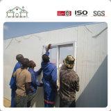 Helles Stahlzwischenlage-Panel-niedrige Kosten-Fertighaus in Afrika