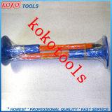 De blauwe Plastic RubberBeitels van de Steen van de Uitrusting van het Handvat 2PCS Koude door de Verpakking van de Krimpfolie